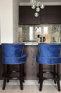 Барные стулья Вельвет для частного интерьера