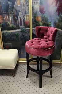Частный интерьер, барный стул Вельвет
