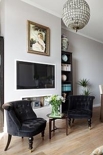 Частный интерьер. Будуарное кресло для гостиной