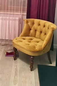 Частный интерьер, будуарное кресло для спальни