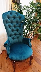 Частный интерьер, кресло Классик и стулья Вилла