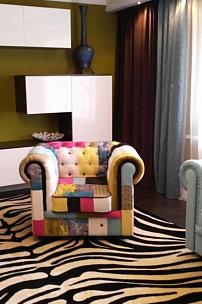 """Частный интерьер, мебель Честер в стиле """"пэчворк"""""""