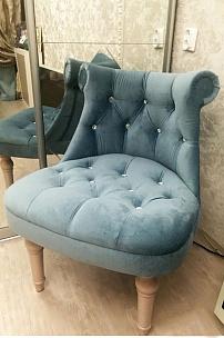 Частный интерьер, мебель в бархате