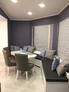 Частный интерьер, мебель в обивке рогожка