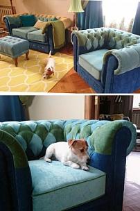 """Частный интерьер, мебель в стиле """"пэчворк"""""""