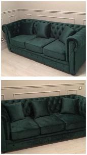 Частный интерьер, трехместный диван Честер