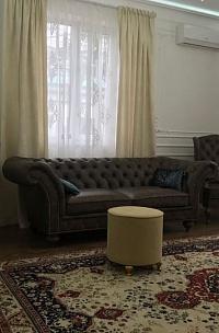 Диван и кресло в натуральной коже