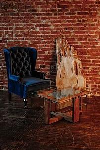 Каминное кресло для интерьера в стиле лофт