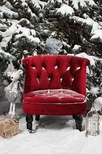 Кресло с новогодней открытки