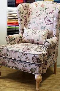 Кресло с ушами (обивка на заказ)