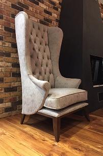 Кресло Трон для каминной зоны