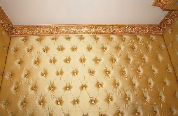 Обшивка стен тканью своими руками