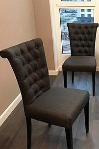 Обеденные стулья в рогожке.Частный интерьер