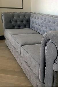 Серый диван Честер