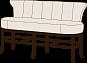 Барный диван Монро