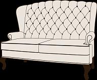 Каминное кресло с ушами